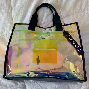 Tommy iridescent tote